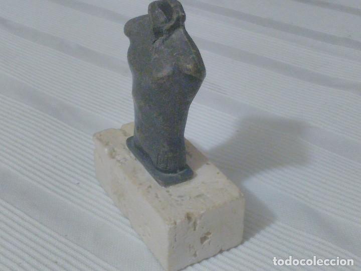 Arte: Escultura de bronce y marmol. Diseñada y firmada por Lluis Llongueras. - Foto 2 - 211452566
