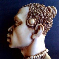 Arte: BUSTO ARTESANAL DE RESINA DE HOMBRE AFRICANO (DESCRIPCIÓN). Lote 211504736