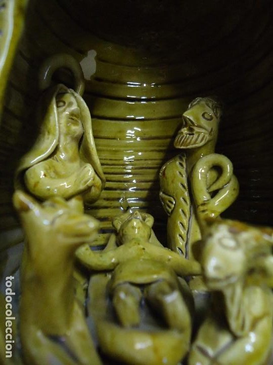 Arte: RARISIMA BOTELLA PORTAL DE BELEM DE LA CERAMISTA ROSA RAMALHO FIRMADA RR CON TODAS LAS FIGURAS DEL P - Foto 14 - 211779516