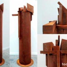 Arte: MIQUEL NAVARRO , 170 CM , GRAN ESCULTURA HIERRO CORTEN , CIUDAD DE LAS TORRES 1/2 , ART MADRID. Lote 211839551