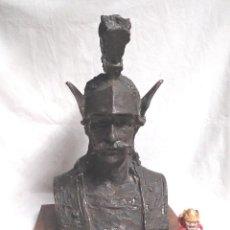 Arte: GEGANT D'OLOT ESCULTURA EN BRONCE DE MIQUEL BLAY FABREGA. MED. 34 CM. Lote 211503944