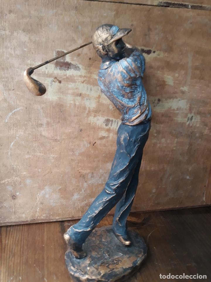 Arte: Escultura en resina de golfista golpeando la bola Golf 29 cm - Foto 3 - 211870195