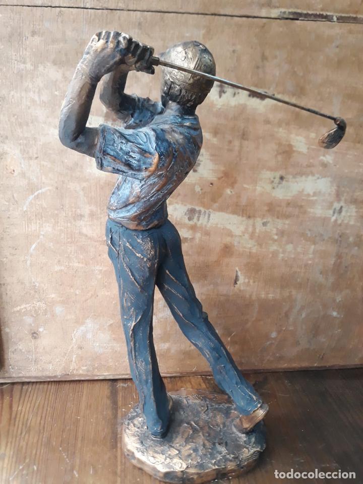 Arte: Escultura en resina de golfista golpeando la bola Golf 29 cm - Foto 4 - 211870195
