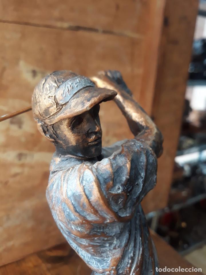 Arte: Escultura en resina de golfista golpeando la bola Golf 29 cm - Foto 6 - 211870195