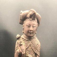 Arte: GEISHA, JAPÓN . ESCULTURA EN RESINA ANTIGUA.. Lote 211896872