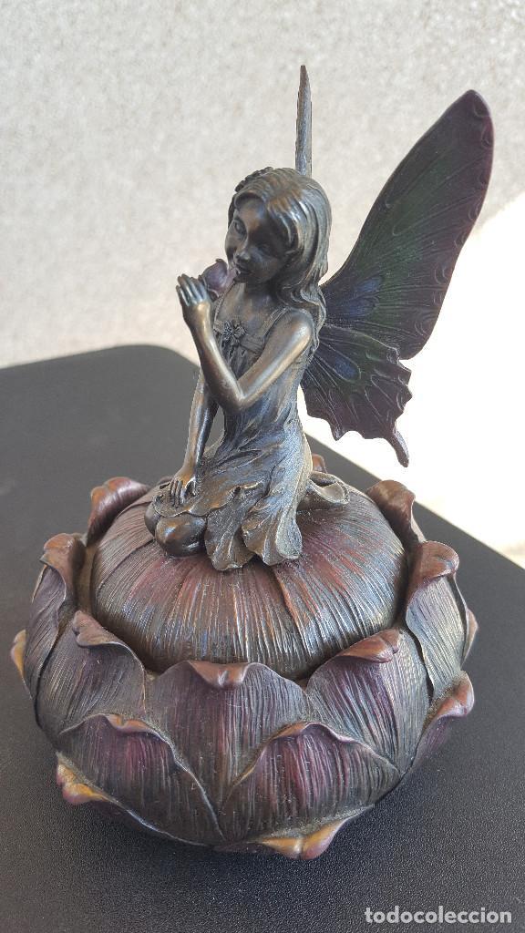 Arte: Caja de resina con figura de hada - Acabada en Simil Bronce - Veronese - Foto 4 - 212308613