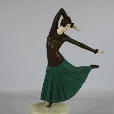Arte: CRISELEFANTINA DANZA DE ELEGANT DANCER. Lote 212485131