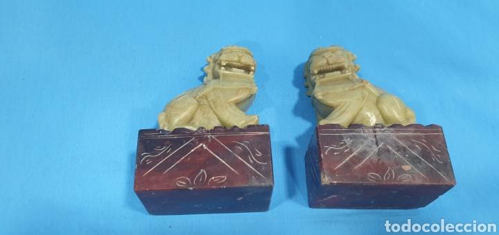 DRAGONES PERROS DE FOO TALLADOS (Arte - Escultura - Piedra)