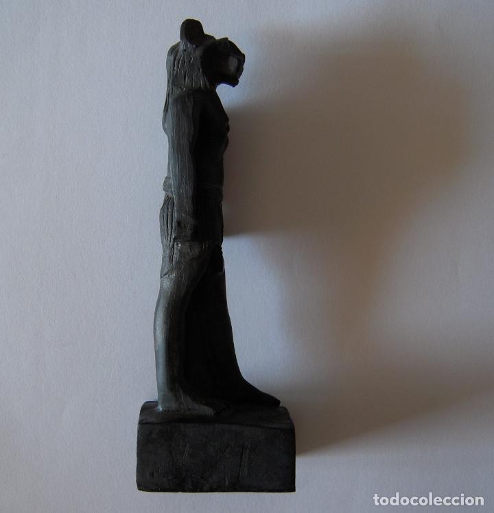 Arte: ESTATUILLA EGIPCIA DE ANUBIS EN RESINA NEGRA - Foto 4 - 212824512