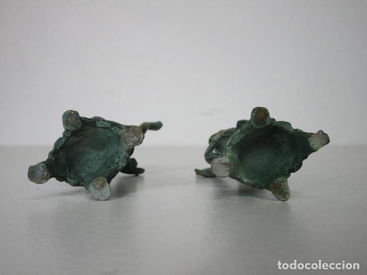 Arte: Pareja de Ángeles Músicos - Bronce Cincelado - Bonita Patina - 15 cm Altura - Foto 11 - 213093801