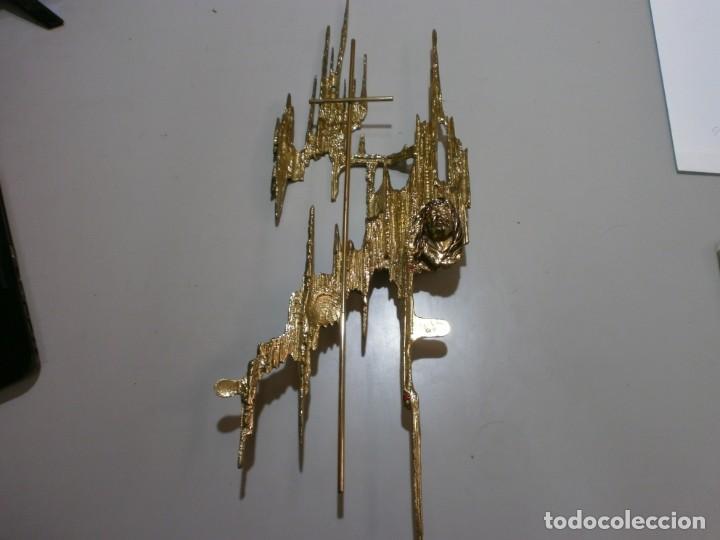 ESCULTURA DE CRISTO DE DALI EN BRONCE ESTILO MODERNO MIDE 60X22 (Arte - Escultura - Bronce)