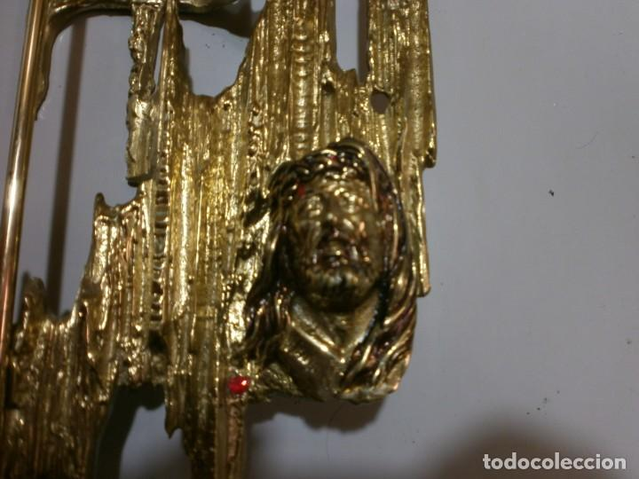 Arte: escultura de cristo de dali en bronce estilo moderno mide 60x22 - Foto 8 - 213169118