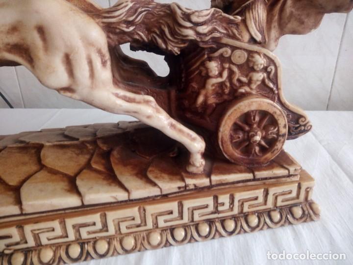 Arte: BIGA ROMANA DE RESINA firmada. - Foto 3 - 213438888