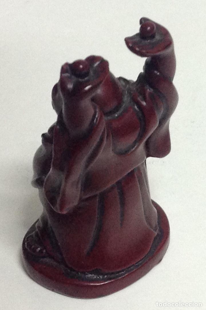 Arte: Figuras chinas, buda feliz y elefante con pelota. Miniaturas. - Foto 5 - 213656408