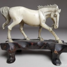 Arte: CABALLO MARFIL --CHINA F.DINASTIA QING-- ANTIQUE CHINESE IVORY HORSE, 18TH CENTURY. Lote 213679763