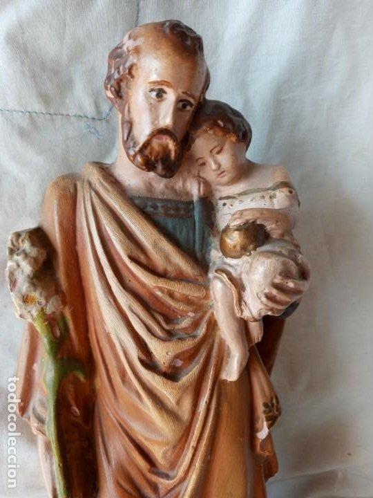 Arte: San Jose con el Niño Figura antigua de terracota - Foto 2 - 214245223