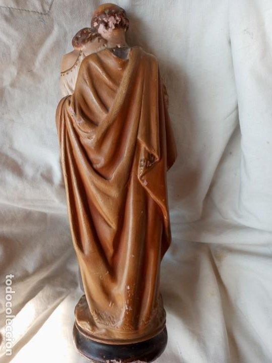 Arte: San Jose con el Niño Figura antigua de terracota - Foto 3 - 214245223