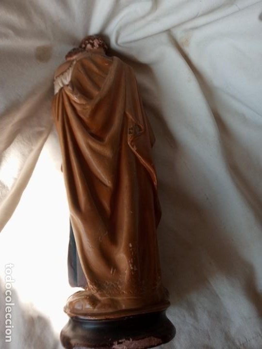 Arte: San Jose con el Niño Figura antigua de terracota - Foto 6 - 214245223