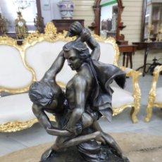 Arte: N118 FIGURA EN BRONCE DE LUCHADORES (FIRMADA). Lote 214408397