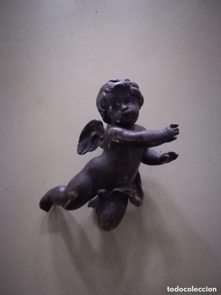 ANGELOTE EN BRONCE MACIZO. MUY PESADO. (Arte - Escultura - Bronce)