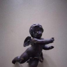 Arte: ANGELOTE EN BRONCE MACIZO. MUY PESADO.. Lote 215245763