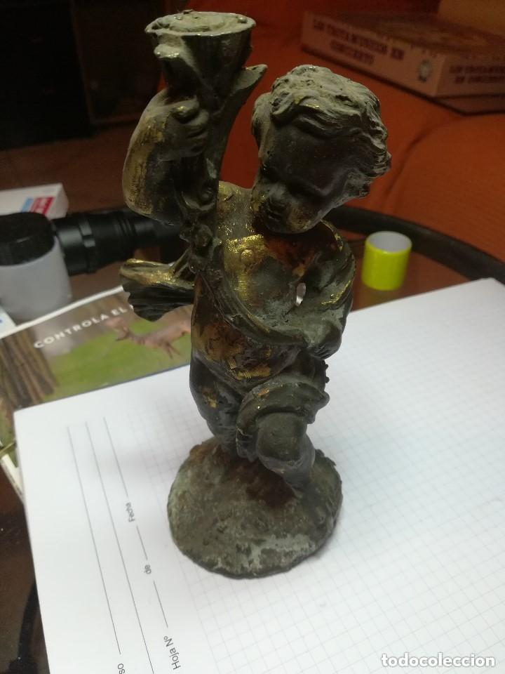 PAREJA DE ANGELOTES EN BRONCE MACIZO. (Arte - Escultura - Bronce)
