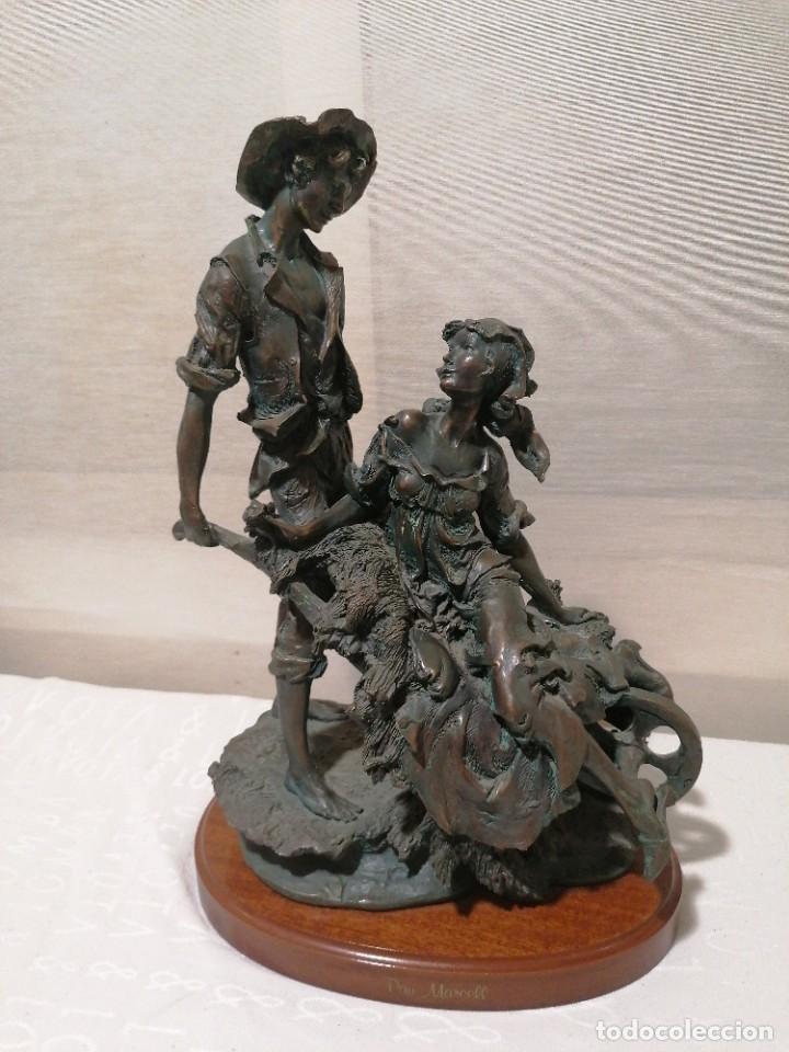 MAGNÍFICA FIGURA DE PAU MARCELL (Arte - Escultura - Resina)