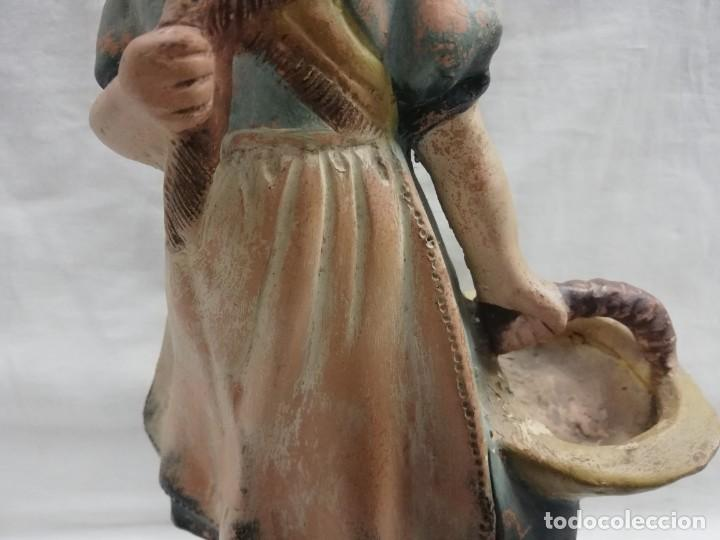 Arte: FIGURA DE TERRACOTA TALLERES DE OLOT FLORERO - Foto 3 - 215658562