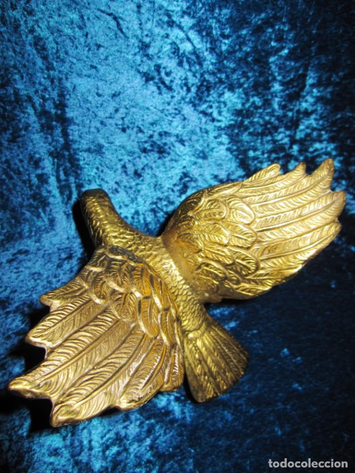 Arte: Antigua majestuosa figura escultura águila bronce macizo 3,6 kg primera mitad s XX - Foto 4 - 215681098