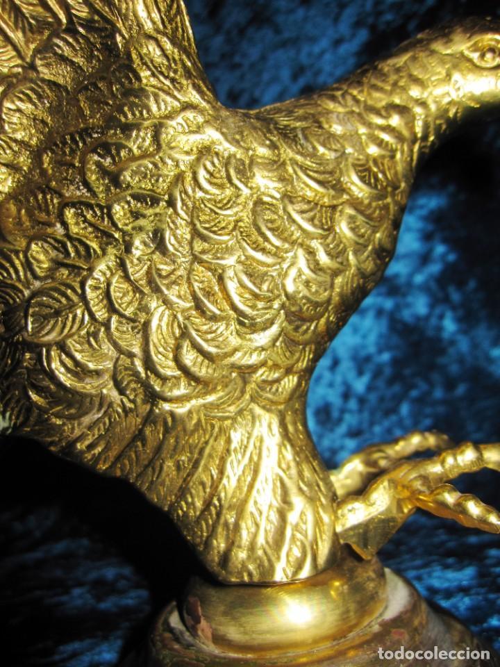 Arte: Antigua majestuosa figura escultura águila bronce macizo 3,6 kg primera mitad s XX - Foto 3 - 215681098