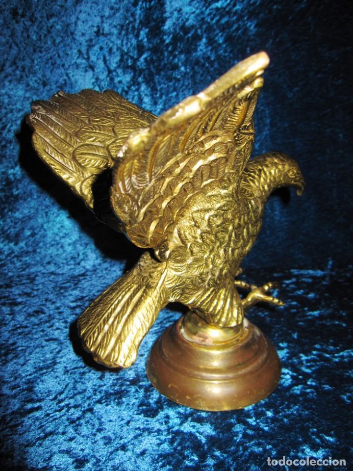 Arte: Antigua majestuosa figura escultura águila bronce macizo 3,6 kg primera mitad s XX - Foto 9 - 215681098