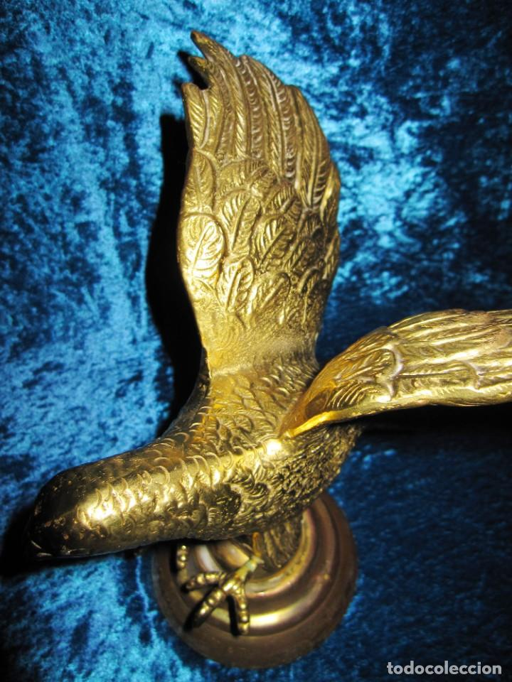 Arte: Antigua majestuosa figura escultura águila bronce macizo 3,6 kg primera mitad s XX - Foto 11 - 215681098