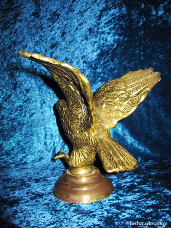 Arte: Antigua majestuosa figura escultura águila bronce macizo 3,6 kg primera mitad s XX - Foto 13 - 215681098