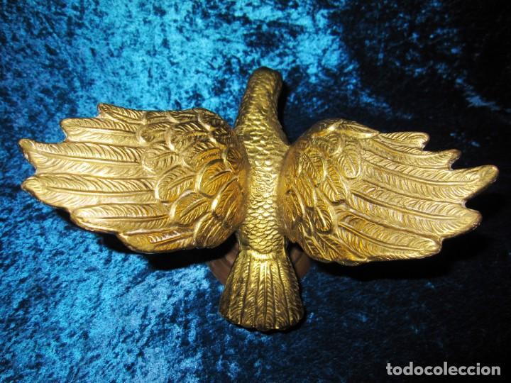 Arte: Antigua majestuosa figura escultura águila bronce macizo 3,6 kg primera mitad s XX - Foto 14 - 215681098