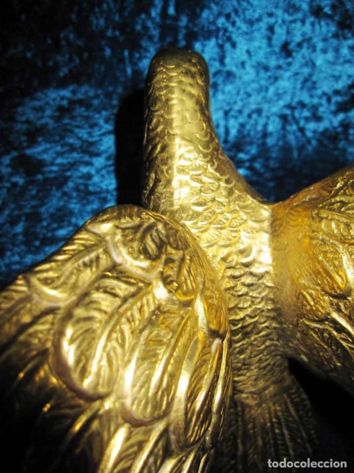 Arte: Antigua majestuosa figura escultura águila bronce macizo 3,6 kg primera mitad s XX - Foto 15 - 215681098