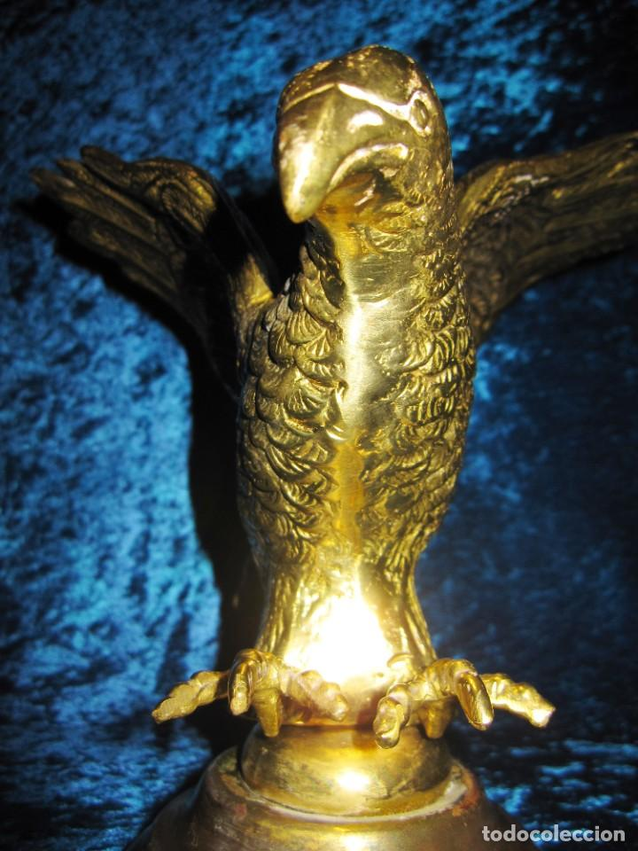 Arte: Antigua majestuosa figura escultura águila bronce macizo 3,6 kg primera mitad s XX - Foto 18 - 215681098