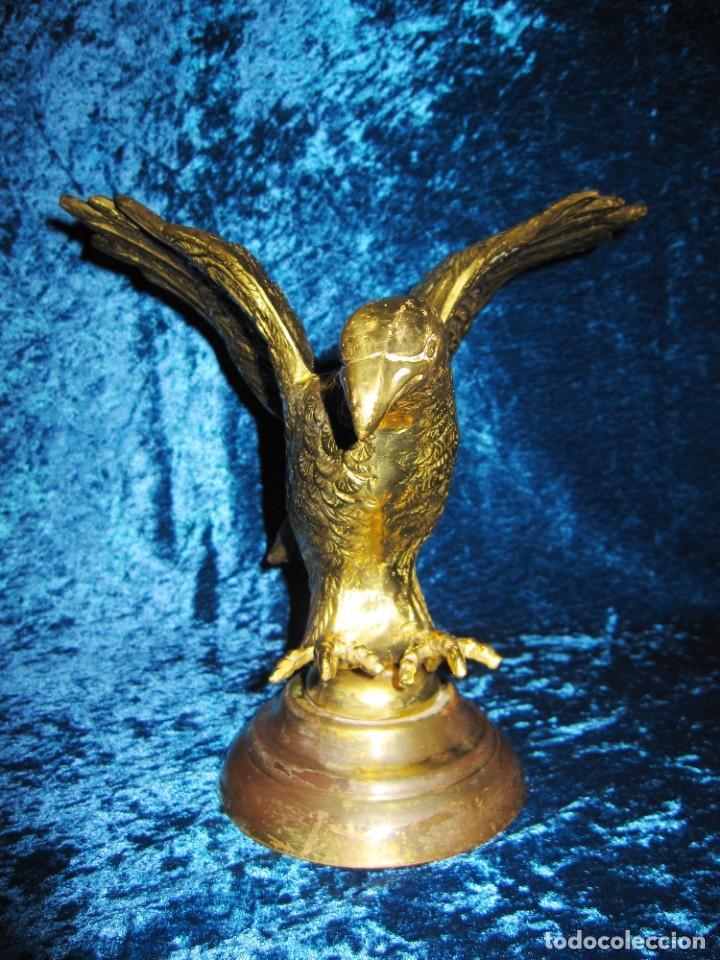 Arte: Antigua majestuosa figura escultura águila bronce macizo 3,6 kg primera mitad s XX - Foto 19 - 215681098