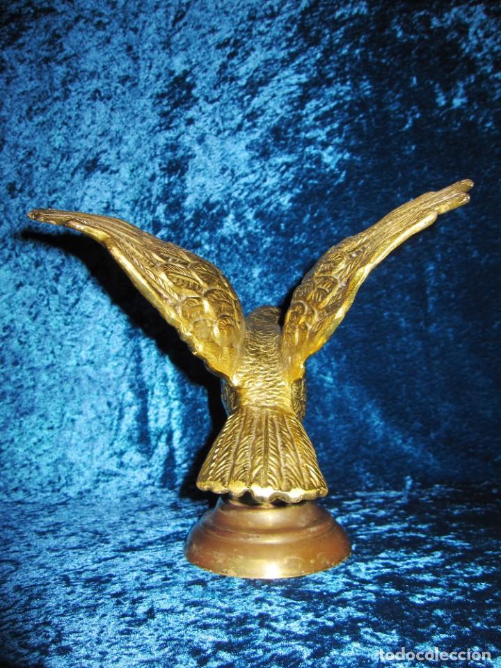 Arte: Antigua majestuosa figura escultura águila bronce macizo 3,6 kg primera mitad s XX - Foto 20 - 215681098
