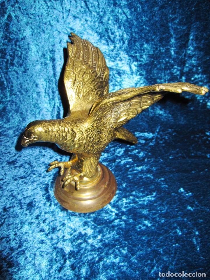 Arte: Antigua majestuosa figura escultura águila bronce macizo 3,6 kg primera mitad s XX - Foto 25 - 215681098