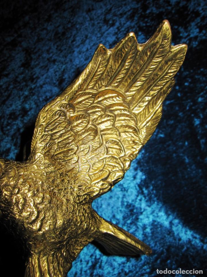 Arte: Antigua majestuosa figura escultura águila bronce macizo 3,6 kg primera mitad s XX - Foto 26 - 215681098