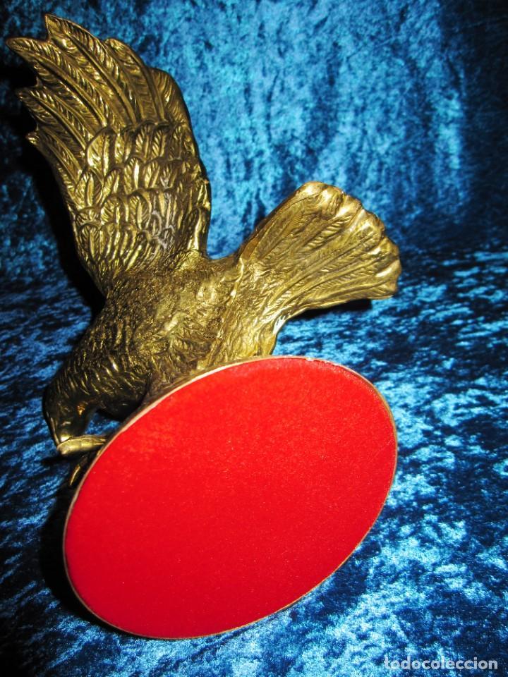 Arte: Antigua majestuosa figura escultura águila bronce macizo 3,6 kg primera mitad s XX - Foto 27 - 215681098