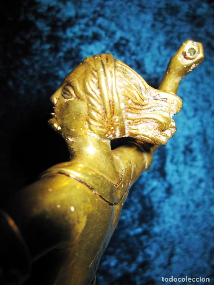 "Arte: Trampantojo bronce ""Alegato feminista"" mujer sobre peana mármol rosa circa 1920-1930 - Foto 22 - 215766223"