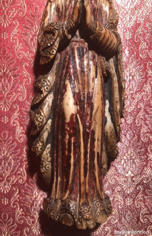 Arte: BONITA VIRGEN INDO PORTUGUESA DE GOA. BARROCO. INDIA. SIGLO XVII. - Foto 3 - 216936520