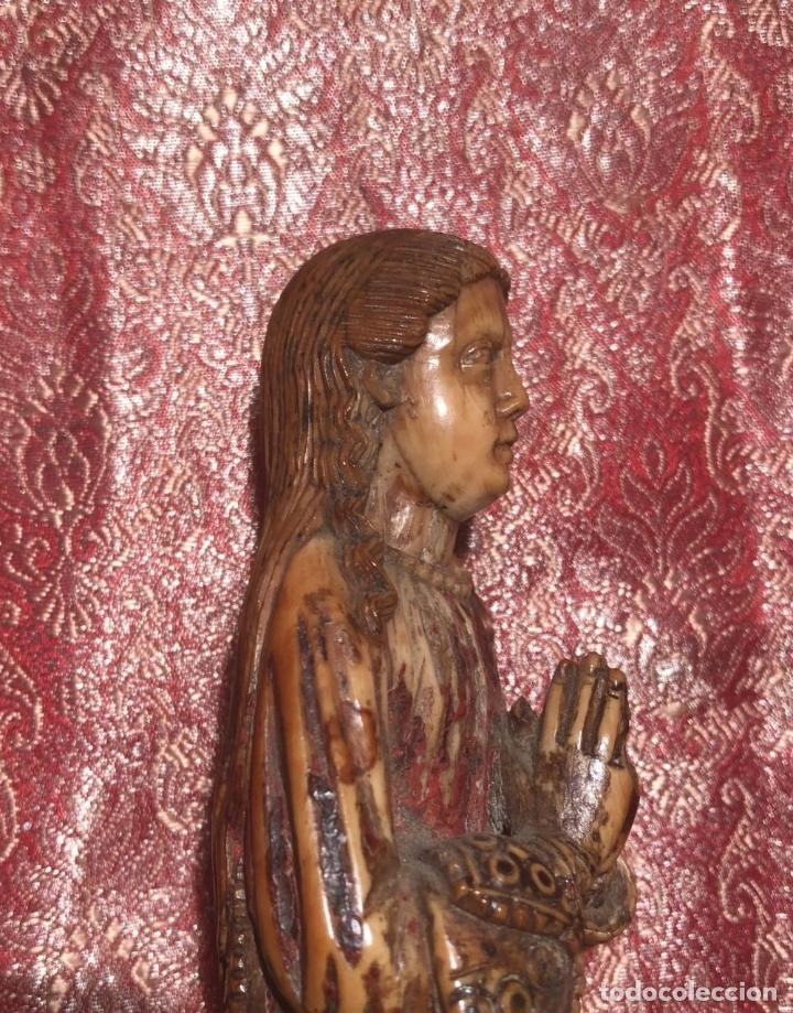 Arte: BONITA VIRGEN INDO PORTUGUESA DE GOA. BARROCO. INDIA. SIGLO XVII. - Foto 6 - 216936520