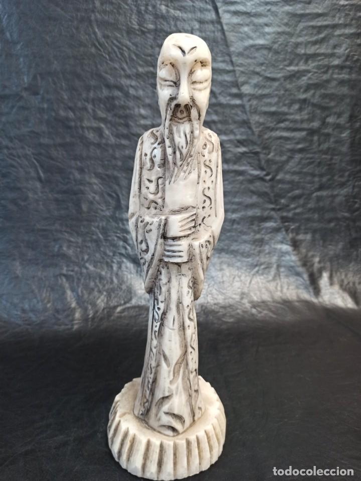 Arte: Escultura oriental. Alabastro. C25 - Foto 2 - 217216933