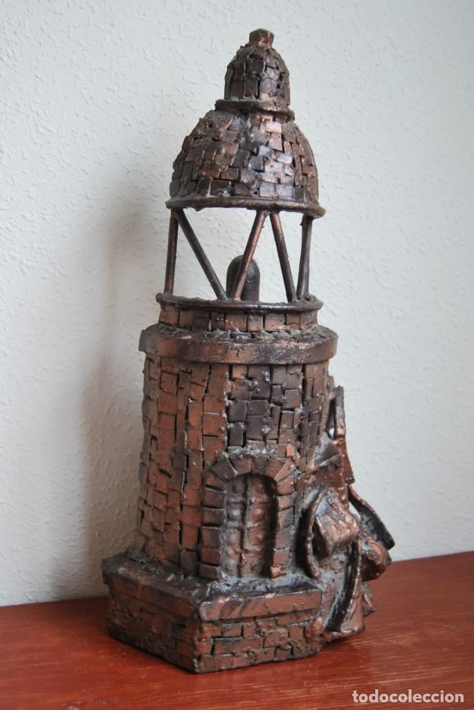ESCULTURA - FARO DE HIERRO - FORJA - COMERCIO - FACHADA - PUERTA - GRAN TAMAÑO 50 CM (Arte - Escultura - Hierro)