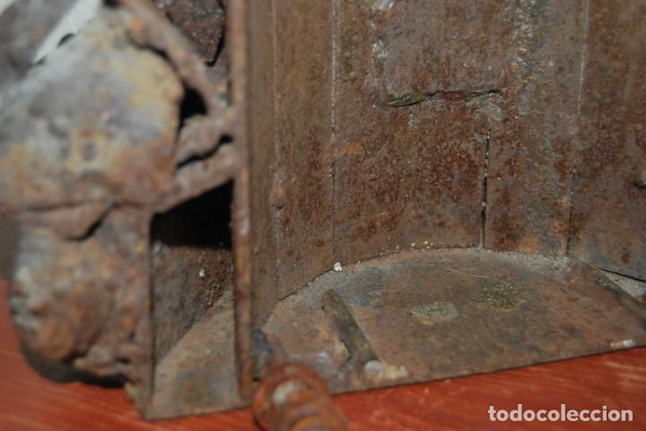 Arte: ESCULTURA - FARO DE HIERRO - FORJA - COMERCIO - FACHADA - PUERTA - GRAN TAMAÑO 50 CM - Foto 9 - 217258620