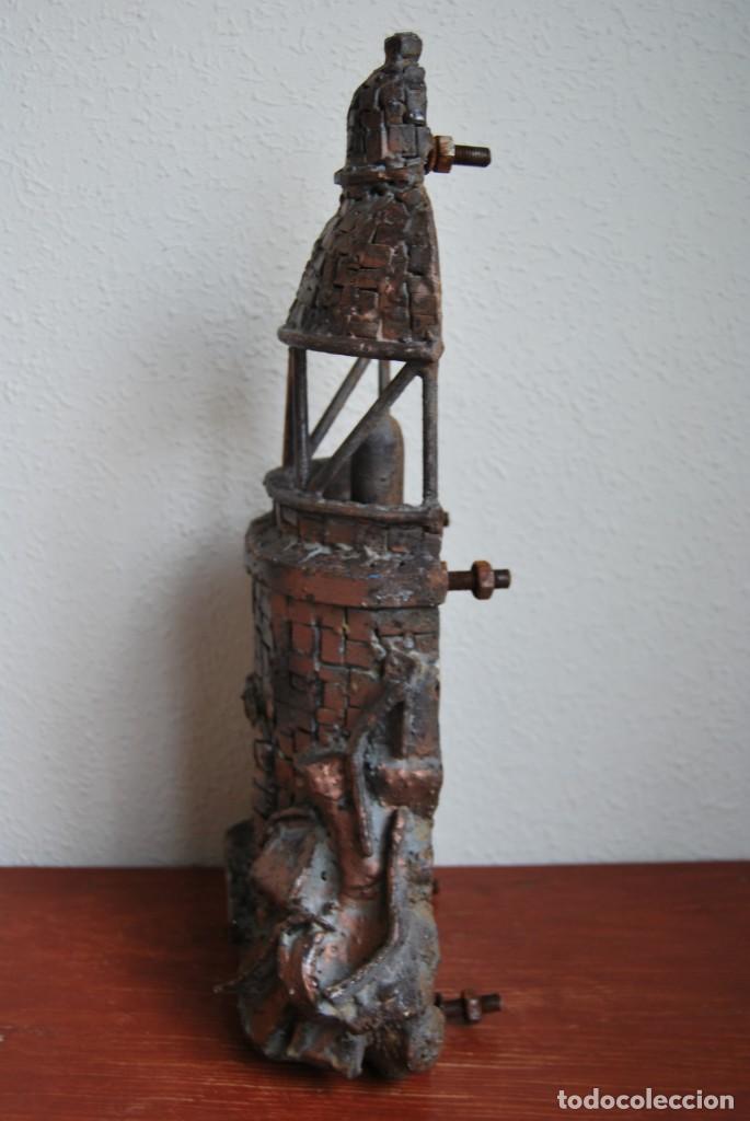 Arte: ESCULTURA - FARO DE HIERRO - FORJA - COMERCIO - FACHADA - PUERTA - GRAN TAMAÑO 50 CM - Foto 11 - 217258620