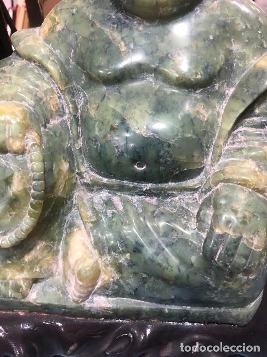 Arte: FANTASTICA FIGURA BUDA TALLADO EN JADE JADEITA - PESO 7800 GR. - MEDIDA 22X23X21 CM - Foto 4 - 217563495