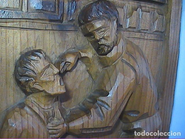 Arte: EXCELENTE TALLA SOBRE MADERA. EL DENTISTA DEL S.XVIII. 40 X 215 CM. - Foto 2 - 217692846